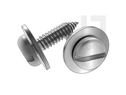 ISO 10510-1999 开槽盘头自攻螺钉和大平垫组合C型