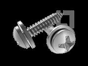 ISO 10510-1999 十字槽盘头自攻螺钉和平垫圈组合C型