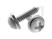 ISO 10510-1999 十字槽盘头自攻螺钉和平垫圈组合F型