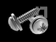 ISO 10510-1999 米字槽盘头自攻螺钉和平垫组合C型