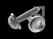 ISO 10510-1999 米字槽盘头自攻螺钉和平垫组合F型