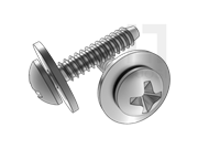 ISO 10510-1999 十字槽盘头自攻螺钉和大平垫圈组合F型