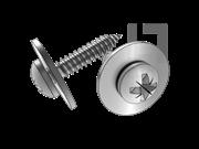 ISO 10510-1999 米字槽盘头自攻螺钉和大平垫组合C型