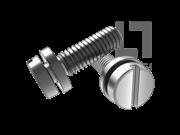 开槽圆柱头螺钉和平垫组合