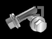 ISO 10644-2009 六角法兰螺栓(F型)和平垫组合