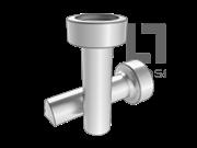 ISO 13918-1998 电弧螺柱焊用焊接螺柱和陶瓷套圈(SD型-B型 尖端形状)