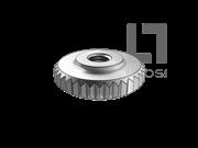 DIN 467-1986 滚花螺母