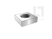 DIN 562-1987 四方薄螺母