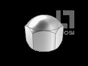 DIN 917-1987 低型六角盖形螺母(d≤10mm)