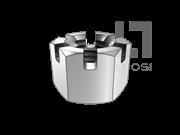 DIN 935-1-1987 六角开槽螺母