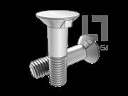 DIN 604-1981 60°沉头带榫螺栓