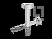 DIN 7964-1990 六角头不脱出螺钉L型长螺纹(平尾)
