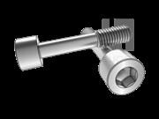 DIN 7964E-1990 内六角圆柱头不脱出螺钉L型长螺纹(平尾)