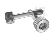 DIN 7964E-1990 滚花内六角圆柱头不脱出螺钉L型长螺纹(锥尾)