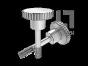 DIN 7964F-1990 滚花头台阶不脱出螺钉L型长螺纹(平尾)