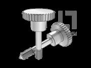 DIN 7964F-1990 滚花头台阶不脱出螺钉L型长螺纹(锥尾)