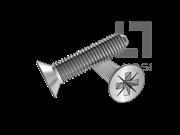 DIN 7500-2007 深米字槽沉头三角锁紧螺钉(Z型)