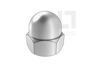 DIN 1587-1987 六角盖形螺母(B型)