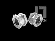 DIN 16903-1-1974 六角通孔中间带槽镶入螺母(A型)