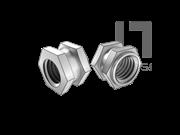 DIN 16903-1-1974 六角通孔中间带槽台阶镶入螺母(C型)