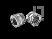 DIN 16903-1-1974 滚花通孔中间带槽镶入螺母(B型)
