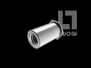 QIB/IND BSOA 铝合金盲孔平头六角铆螺母