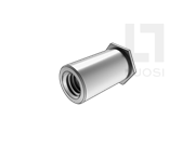 QIB/IND BSON 统一螺纹碳钢盲孔平头六角铆螺母