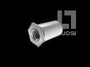 QIB/IND SO 加硬碳钢通孔平头六角铆螺母