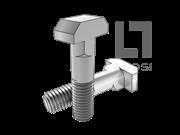 DIN 188-1987 T型带双榫螺栓
