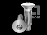 ASME/ANSI B18.6.7M-9-1999 米制四方槽半沉头螺钉 表9