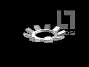 DIN 5406-1993 圆螺母用止动垫圈(MB型)