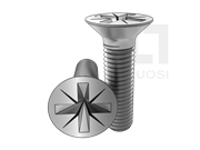 GB/T 819.1-2016 4.8级米字槽沉头螺钉(Z型槽)