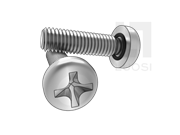 MS 3212B-1986 带密封圈十字槽盘头螺钉