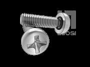 MS 3212B-1998 带密封圈十字槽盘头螺钉