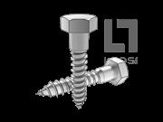 DIN 571-2008 六角头木螺钉
