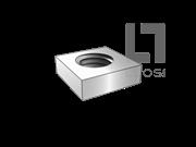 ASME/ANSI B18.2.2-1.1-2015 四方螺母 表1-1