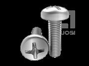 ASME/ANSI B18.6.3-18-2010 十字槽(H型)盘头螺钉 表18