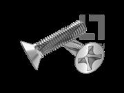 DIN 7516B-1995 十字槽沉头切削螺纹螺钉(H型)