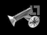 DIN 7516B-1995 米字槽沉头切削螺纹螺钉(Z型)