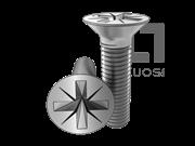 ISO 7046-2-1994 8.8级、不锈钢及有色金属浅米字槽沉头螺钉(Z型槽)