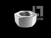 SAE J482-1998 统一螺纹单倒角六角厚螺母-垫圈面