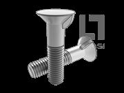 BS 4933-1973 米制90°沉头带榫螺栓 表9