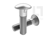 DIN 607-1981 圆头带榫螺栓