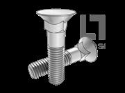 BS 4933-10-1973 米制90°沉头方颈螺栓 表10