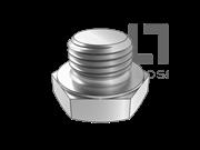 DIN 7604-1992 六角头螺旋塞(A型 d≤16mm)