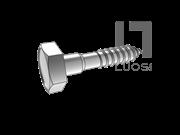 ASME/ANSI B18.2.1-15-2012 六角头导颈木螺钉 表15