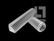 GB/T 78-2007 内六角锥端紧定螺钉