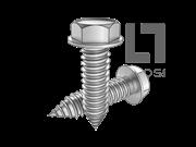 ASME/ANSI B18.6.4-40-1998 AB牙六角头带介自攻螺钉 表40