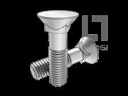 GB/T 10-1988 沉头方颈螺栓