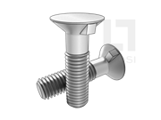 GB/T 11-1988 沉头带榫螺栓